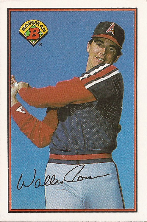 1989 Bowman baseball card of Wally Joyner.