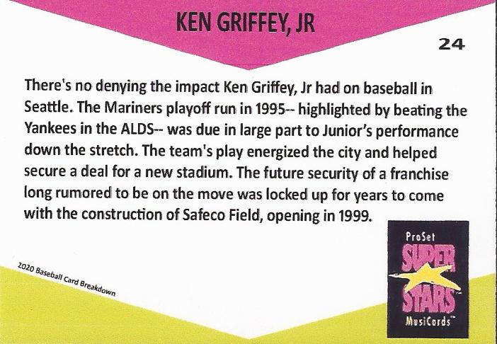 Ken Griffey Jr. baseball card